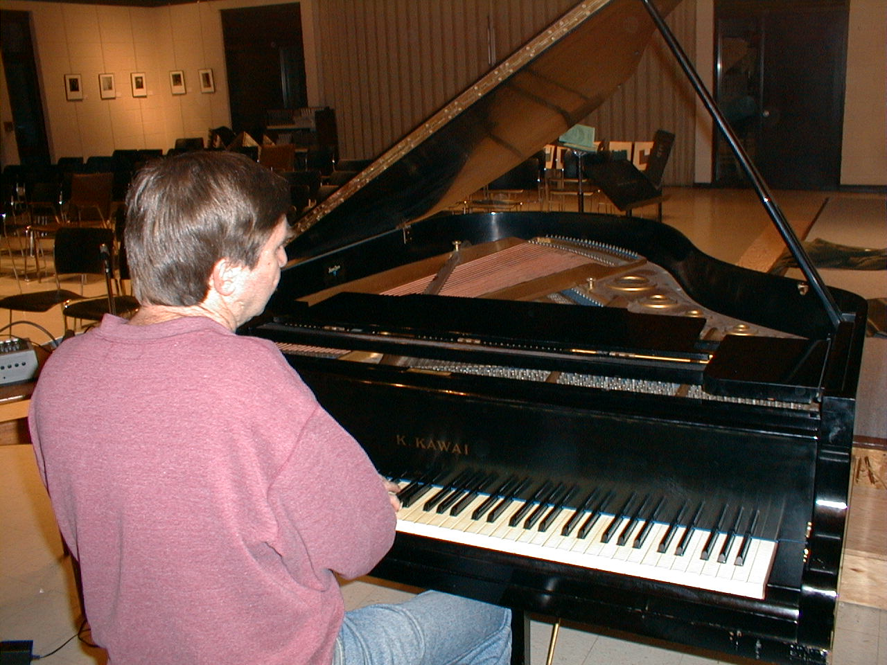 Brian playing piano